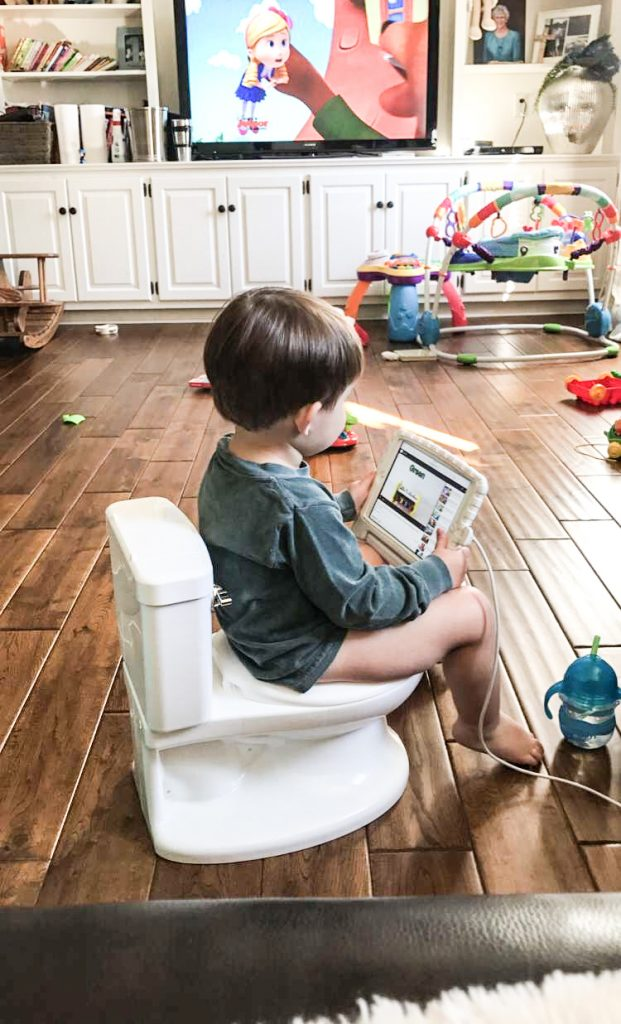 Potty training with an iPad
