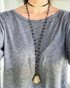 Golden Geode Necklace & Choker from six.twentynine designs