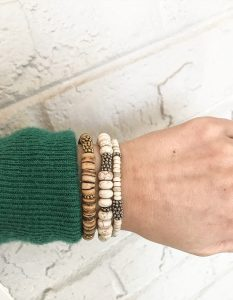 Wood Bead Bracelets from six.twentynine designs