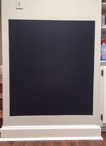 Chalkboard paint on wall DIY project
