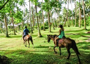 Horseback riding at the Namale resort in Fiji