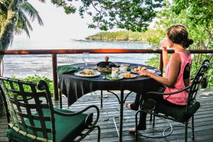 Lunch overlooking the ocean at the Namale resort in Fiji