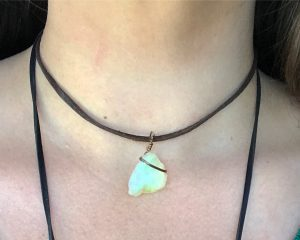 Raw Opal Choker from six.twentynine designs