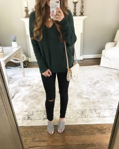 BP V-Neck Pullover Mirror Selfie
