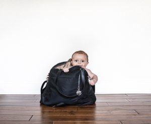 Lo and Sons O.G. Bag baby model in bag